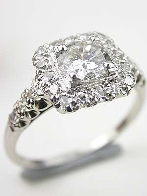 Jabel 1940's Vintage Diamond Bridal Rings