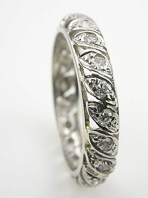 Hand wrought Platinum and Diamond Eternity Band