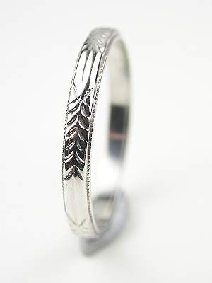 Antique Wedding Ring with Wheat Motif