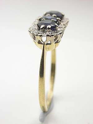 Vintage Engagement Ring with Sapphires