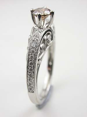 Contemporary Champagne Diamond Engagement Ring