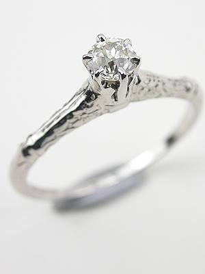 Antique Diamond Engagement Ring by Belais