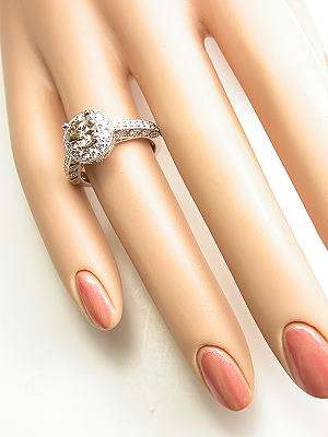 Antique Style Fancy Champagne Diamond Engagement Ring