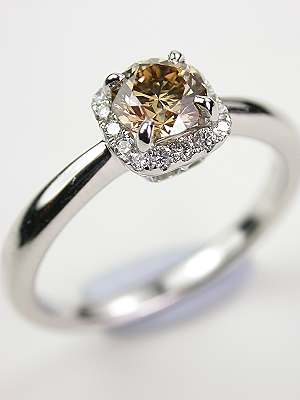 Antique Vintage Champagne Diamond Engagement Rings Topazery