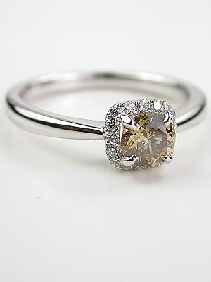 Fancy Champagne Diamond Engagement Ring