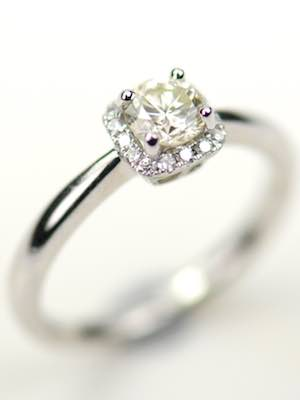 Elegantly Simple Diamond Engagement Ring