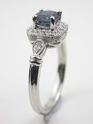Vintage Style Sapphire Engagement Ring