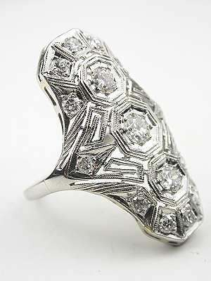 Art Deco Antique Filigree Ring