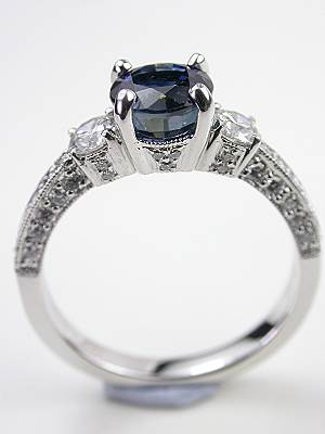 Antique Style Sapphire Engagement Ring