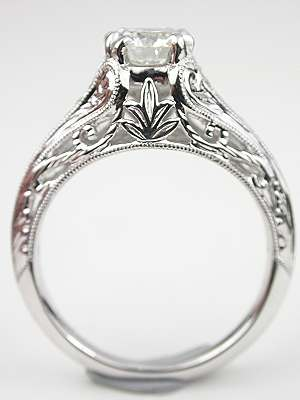 Edwardian Style Diamond Engagement Ring