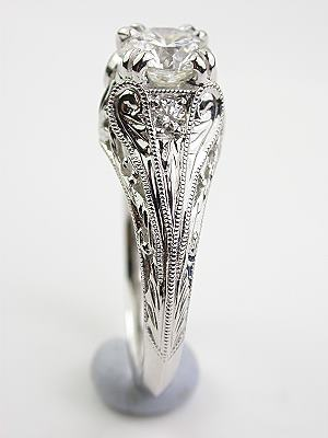 Antique Style Edwardian Diamond Engagement Ring