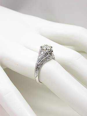 Edwardian Antique Style Engagement Ring