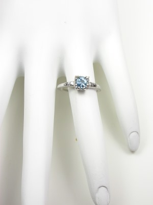 Vintage 1950s Aquamarine Engagement Ring