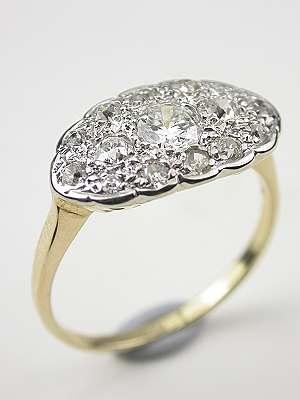 1940s Princess Diamond Engagement Ring Rg 3356