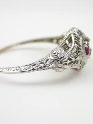 Vintage Ruby Engagement Ring