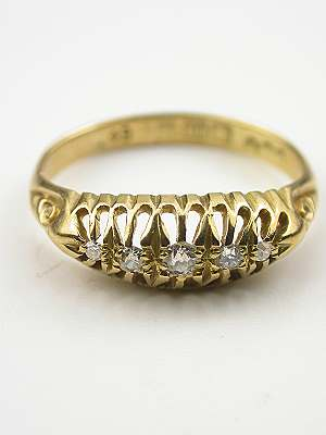 Late Victorian Diamond Wedding Ring