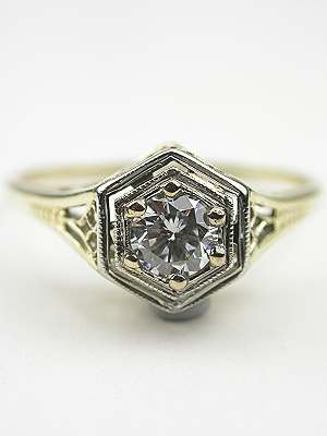1920s Antique Filigree Engagement Ring