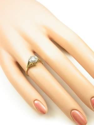 1920s Antique Filigree Engagement Ring