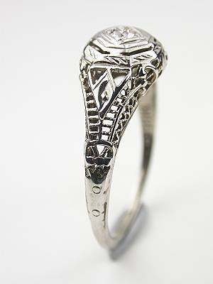 Antique Engagement and Wedding Ring Set