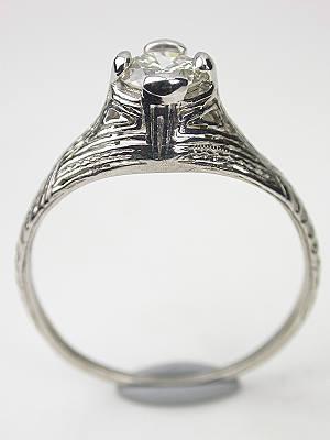 Platinum and Diamond Antique Engagement Ring