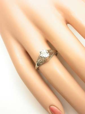 Platinum and Diamond Antique Engagement Ring