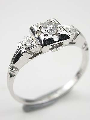 Vintage Diamond Engagement Ring in the Classic Style