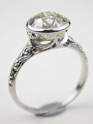 Heavenly Edwardian  Engagement Ring