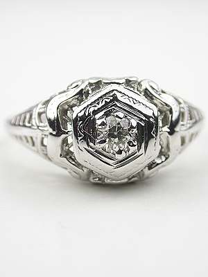 Old European Cut Diamond Edwardian Antique Ring