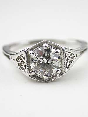 1920's Antique Diamond Engagement Ring