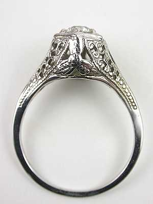 Antique Engagement Ring with Scroll Design