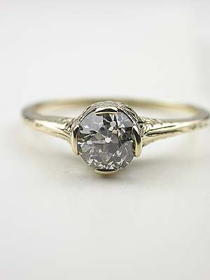 1920s Old European Cut Diamond Engagement Ring