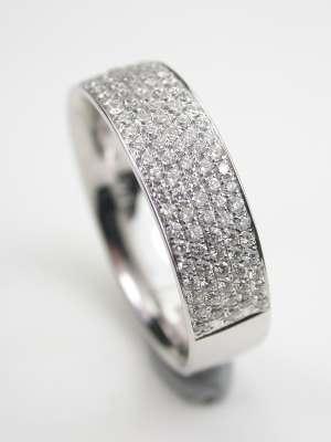 Modern Diamond Wedding Band