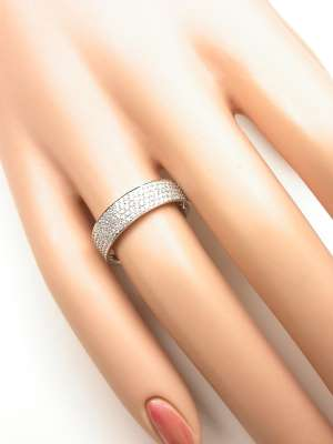 Modern Diamond Wedding Band
