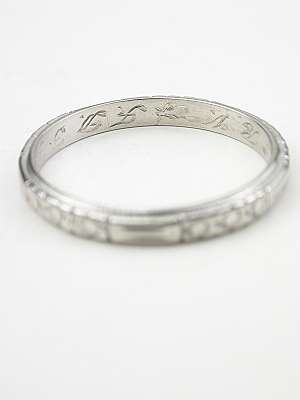 Floral Antique Wedding Ring