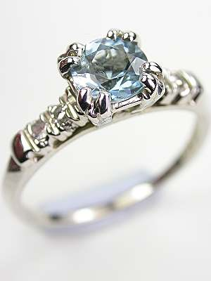 Vintage Aquamarine Engagement Rings