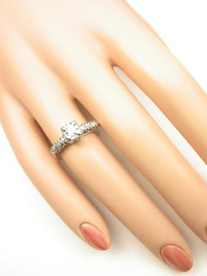 Vintage Engagement Ring with Illusion Setting