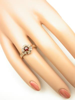 Victorian Antique Ring with Garnet and Pearls