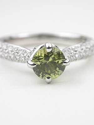 Green Sapphire Engagement Ring