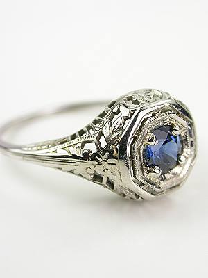 Edwardian Antique Sapphire Engagement Ring