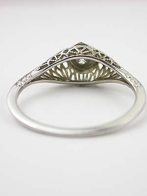 Antique Filigree Diamond Engagement Ring
