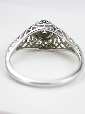 Vintage Filigree Engagement Ring