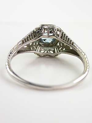 Aquamarine Antique Engagement Ring