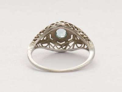 Edwardian Aquamarine Antique Engagement Ring
