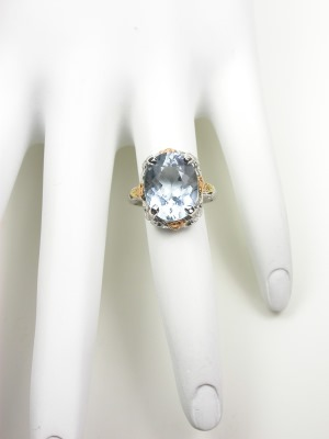 Antique Aquamarine Cocktail Ring