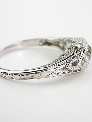 """Vintage Engagement Ring with  """"XO"""" Motif"""