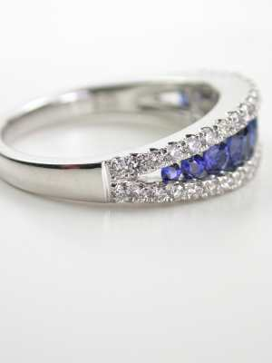 Sapphire and Diamond Wedding Ring