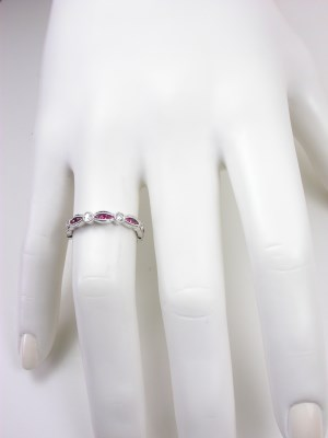 Ruby and Diamond Wedding Ring