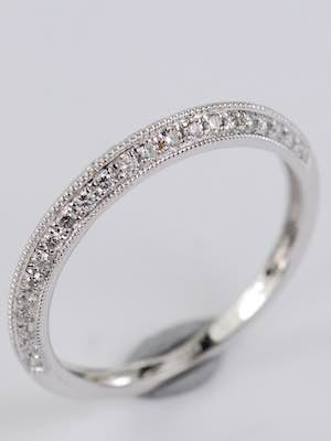 Wedding Ring with Knife Edge Design