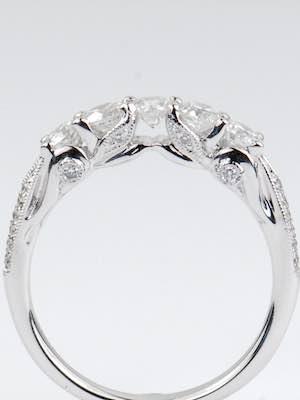 5 Stone Vintage Style Wedding Ring