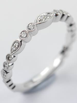Diamond Wedding Ring in the Vintage Style